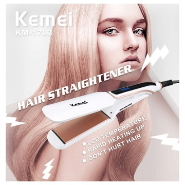 Kemei Professional Iron Hair Straightener (KM-1703)