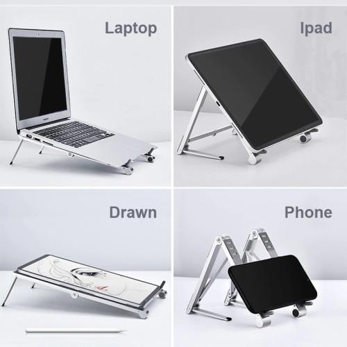 Support pliable pour ordinateur portable, téléphone portable, tablette