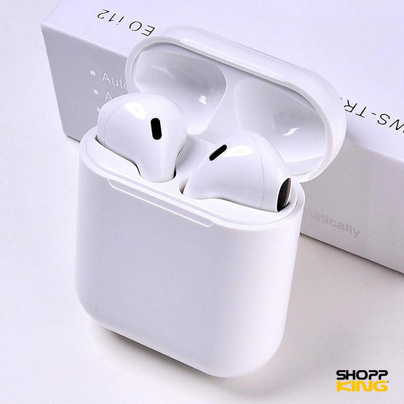 Ecouteurs sans fil bluetooth i12 TWS Color Noire et Blanc