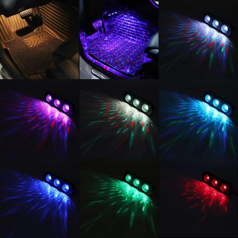 Ensemble USB LED Voiture