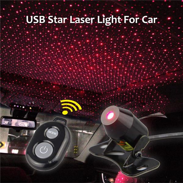 K7 lumière LED rouge décor plafond USB rouge projecteur LED étoile