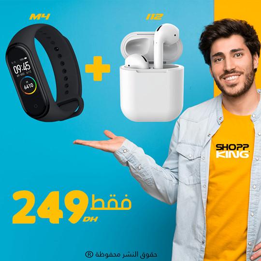 Pack M4 Smart Bracelet + i12 tws écouteur Bluetooth sans fil