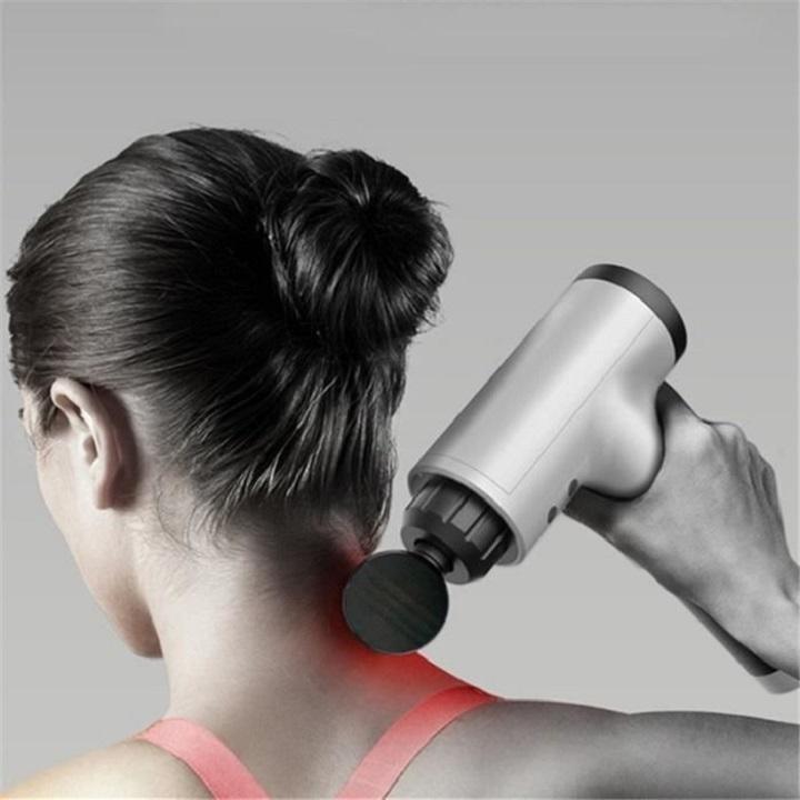 Pistolet de Massage Musculaire Fascia Gun Pistolets, Relaxation des Tissus Profonds et des Muscles, Appareil de Massage à Percussion à 6 Vitesses