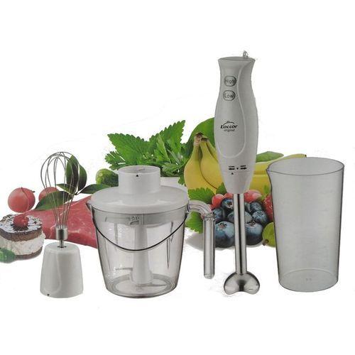 Laccor Mixeur plongeant 4en1 inox, hand blender 1000ml, 400W Blanc