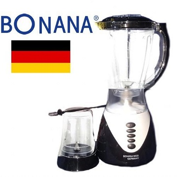Bonana Blender Mixeur - 1,5L + Moulin épices Bol Incassable