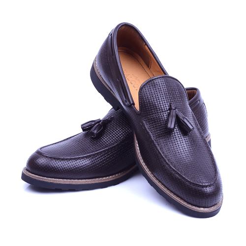 Chaussure Marron En Cuir NEL222