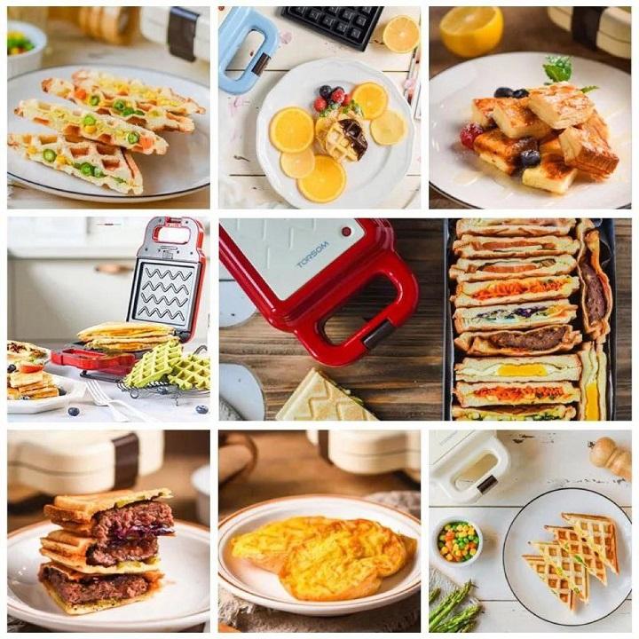 TORSOM Sandwich Gaufre et Toast Machine Multifonctionnelle