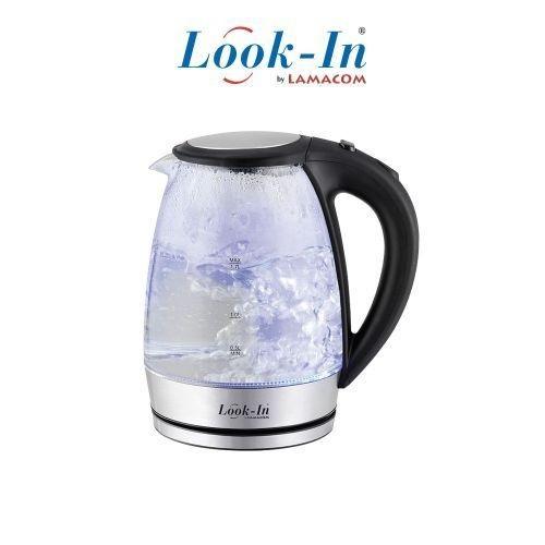 Lamacom Bouilloire électrique en verre 1.7L - Look-in