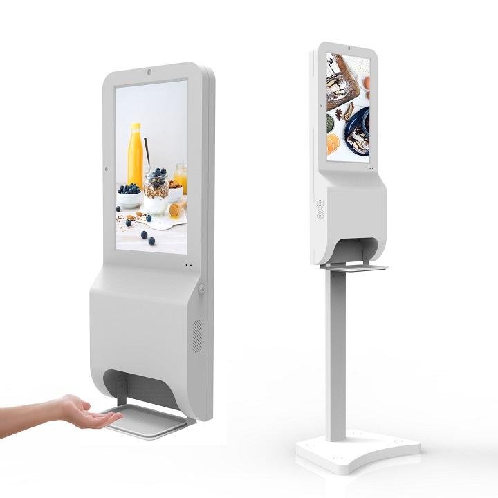 Distributeur digital automatique désinfectant avec affichage publicitaire