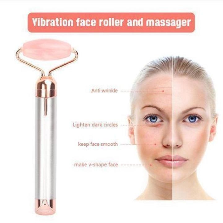 Flawless Contour Pro Facial Roller & Massager avec Under Eye Stone