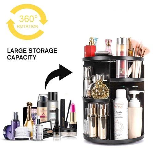 Organisateur maquillage rotatif, Maquillage réglable bricolage 360°