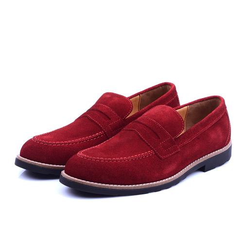 Nelson Chaussure Rouge En Daim NEL220D