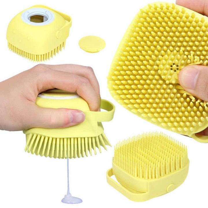 Brosse de bain de massage en Silicone souple pour nettoyage