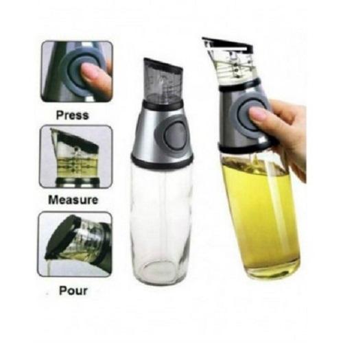 Press & Measure distributeur huille & vinaigre 500 ml bouteille transparente