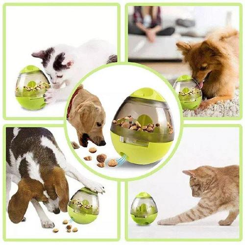 Jouet pour Chien, Distributeur de Croquettes pour Chien et Chat, Balle de Nourriture pour Animaux, Facile à Nettoyer