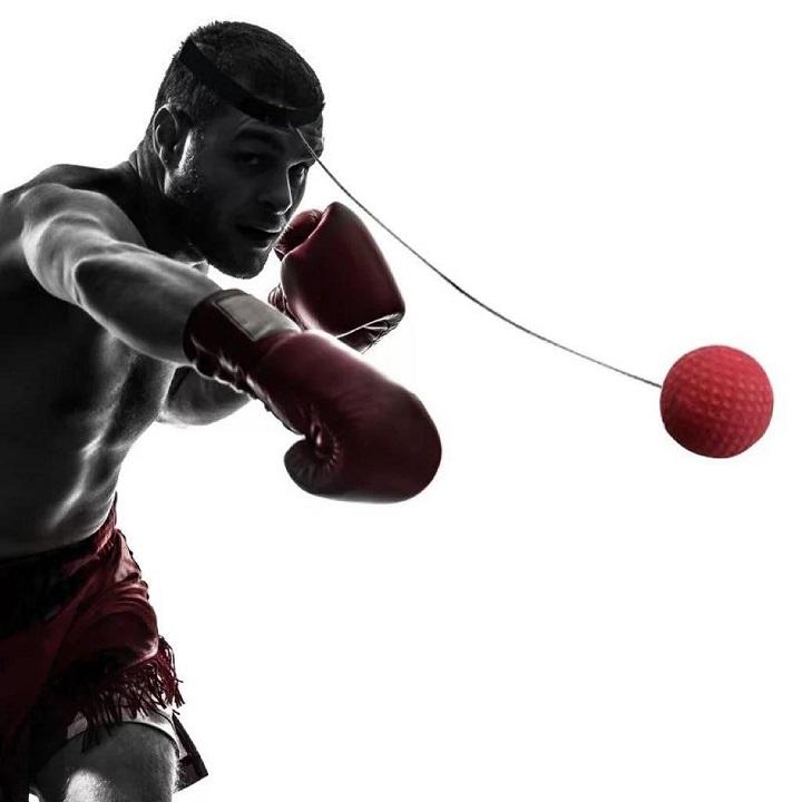 Balle de Boxe, Balle de Combat avec Bandeau de Tête, Ballon de Boxe pour La Formation de Vitesse Réflexe Punch Exercice Entraînement.