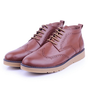 Nelson Bottine Marron En Cuir NEL003