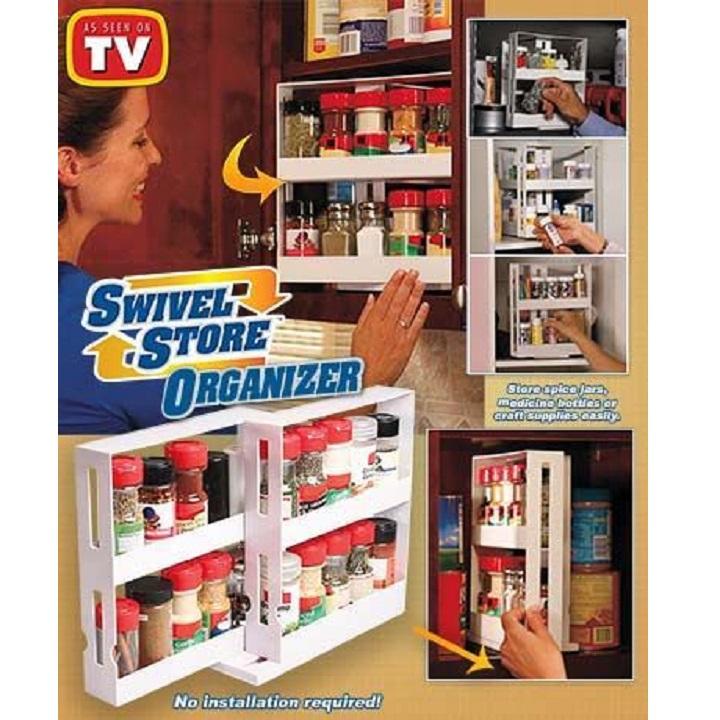 Organisateur de support à épices rotatif armoire de cuisine organisateur de placard support pivotant étagère de rangement conteneur de stockage