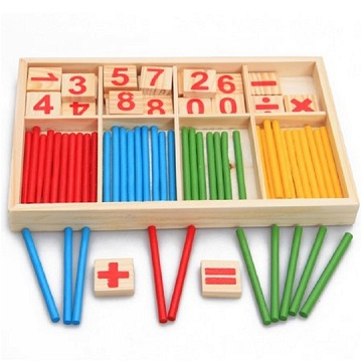 Intelligence Stick Calcul Mathématiques pour vos enfants jouet éducatif Montessori Pédagogie