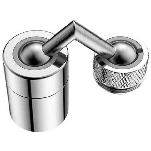Robinet de filtre antiéclaboussures universel Robinet d'eau rotatif à 720 ° avec filtre en filet à 4 couches conception étanche avec double joint torique