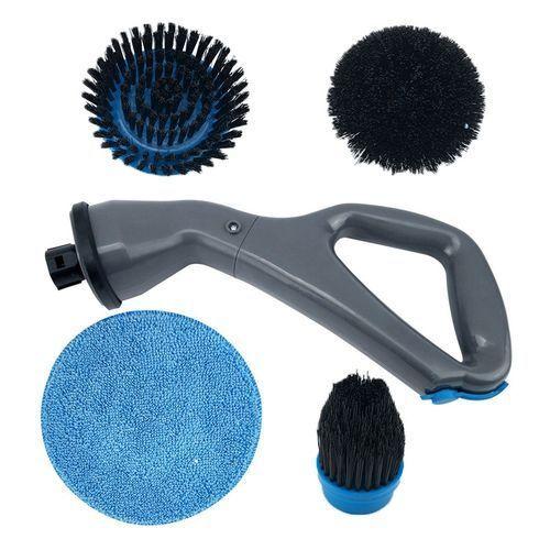 Brosse de nettoyage électrique multifonction salle de bain cuisine ouragan laveur avec 4 brosses
