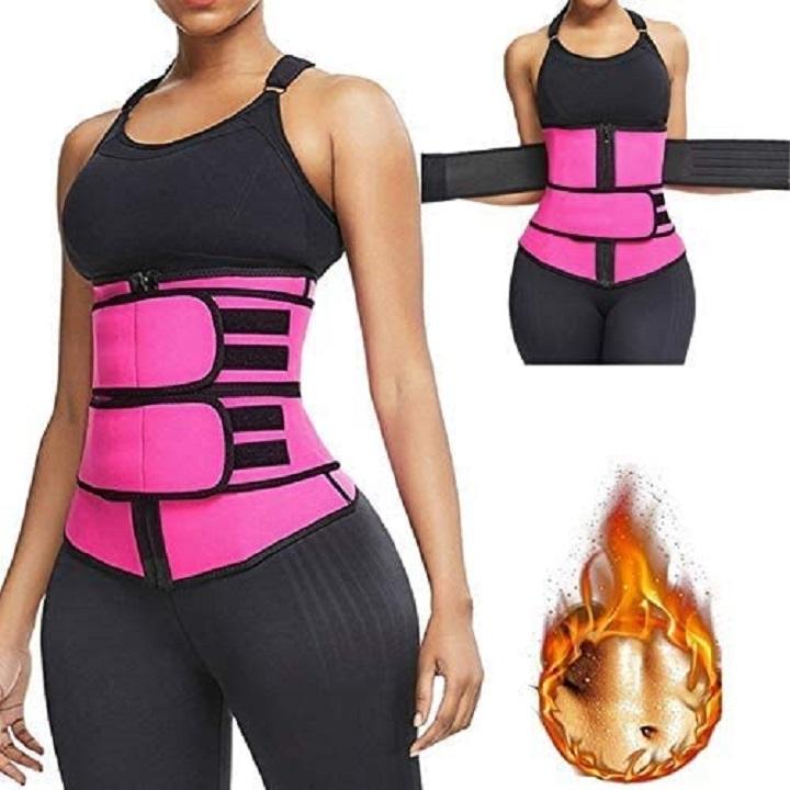 None marque ZASDKE Taille Trainer pour Femmes Perte de Poids Sport Shapewear avec Poches Taille Trimmer Corset