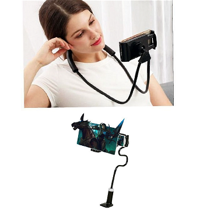 Pack Téléphone: Support Téléphone et Tablette Rotation à 360 l Suspendu Cou Flexible