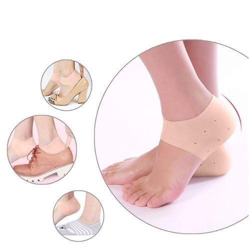 Protecteur de talon d'absorption des chocs en gel de silicium, Chaussettes en silicium - Protégez vos pieds douloureux contre les courbatures causées par la fasciite plantaire, douleur au pied (1 paire)