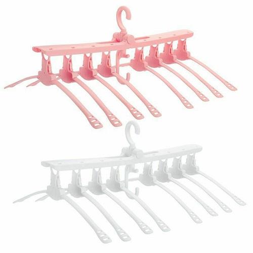 Cintre pliant multifonctionnel rotative à 360° 8-en-1 Cintre à double usage gain de place