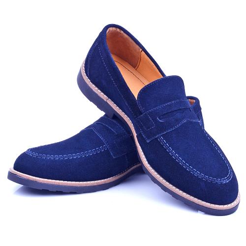 Chaussure Bleu En Daim NEL220D