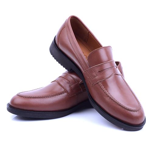 Chaussure Marron En Cuir NEL220