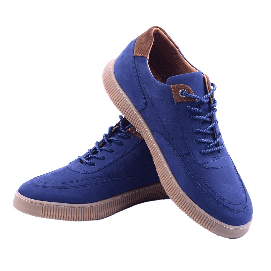 Nelson Baskets Bleu En Daim NEL181D