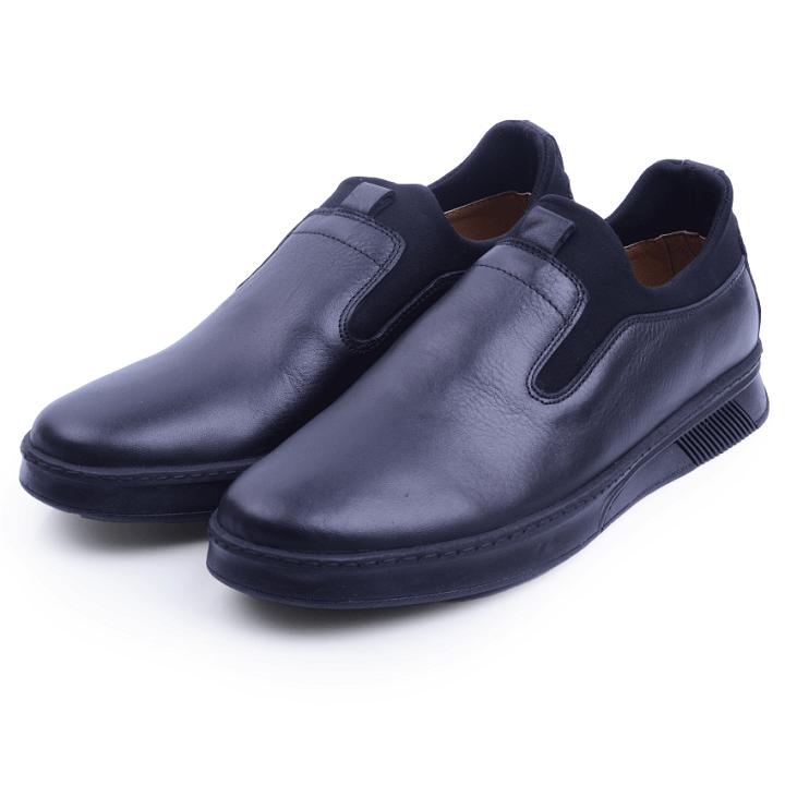 Nelson Chaussure Noire En Cuir NEL2022