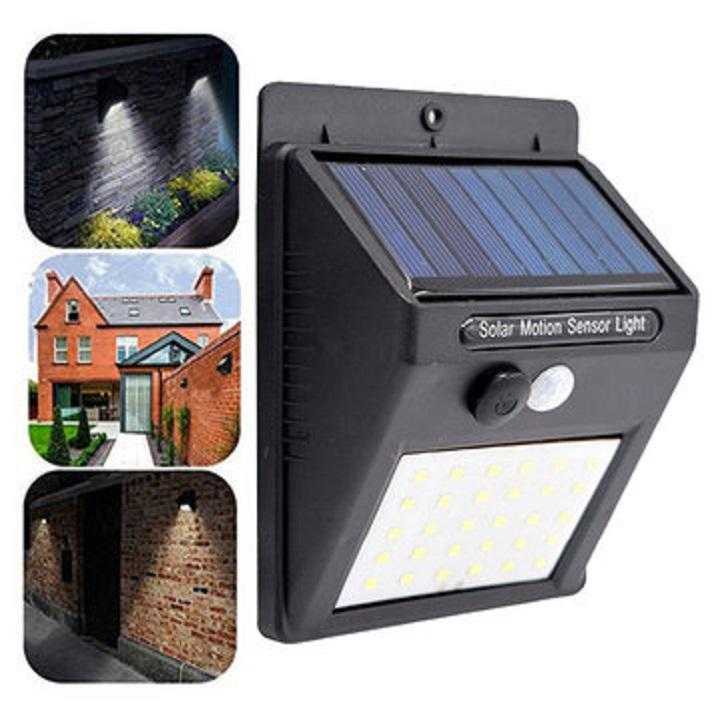 Lampes solaires d'extérieur, LED étanche PIR Motion Sensor Security Solar Lamp, Outdoor Emergency Wall Light Courtyard Street Garden Lamp