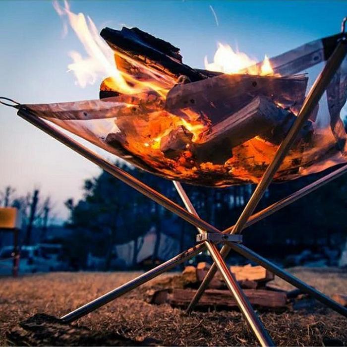 Cadre de feu portable Cadre de feu en acier inoxydable
