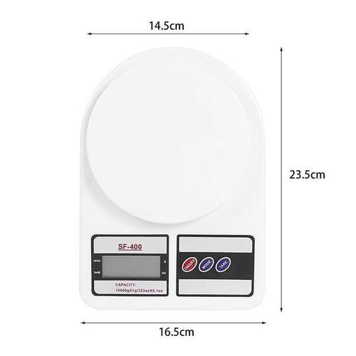 Balance numérique 10kg / 1g balance cuisine scale blanc