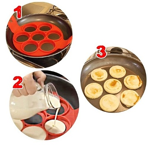 Machine Pancake moule Flippin en silicone Circulaire