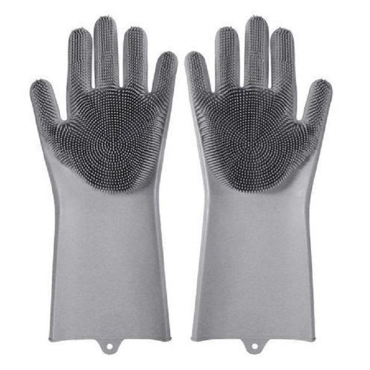 Gant en silicone de nettoyage résistant à la Chaleur pour Cuisine, ménage, Animaux, Lavage de Vaisselle et Voiture