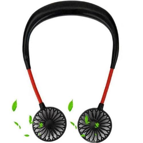 Mini Ventilateur USB Ventilateur Portable Silencieux 3 Vitesses 7 Lumière LED Longue