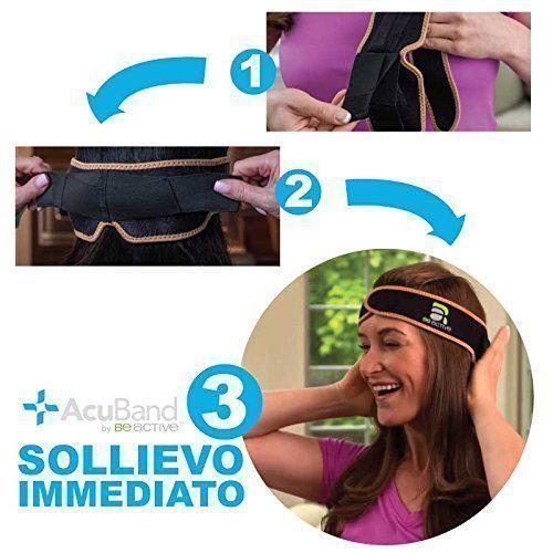 Be Active Acuband Massage Soulagement de la douleur à la tête Stress Musculaire