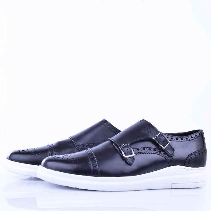 Chaussure Noir/Blanc En Cuir