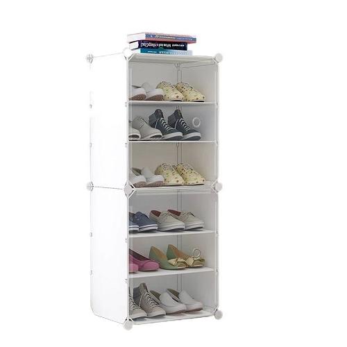 Etagère de Range-Chaussures portatif 6 niveaux, pour Chaussure, Pantoufles