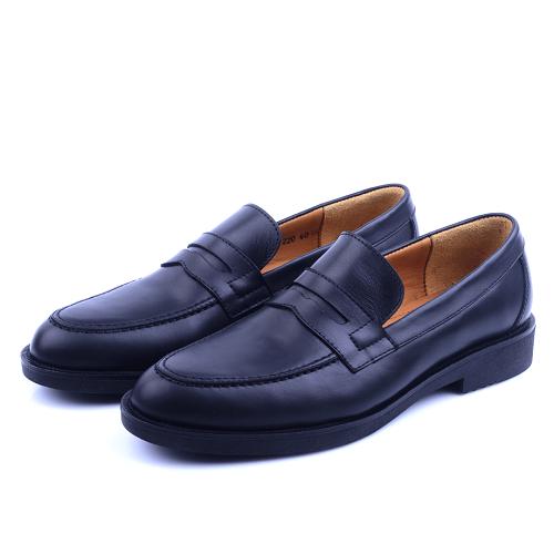 Nelson Chaussure Noire En Cuir NEL220