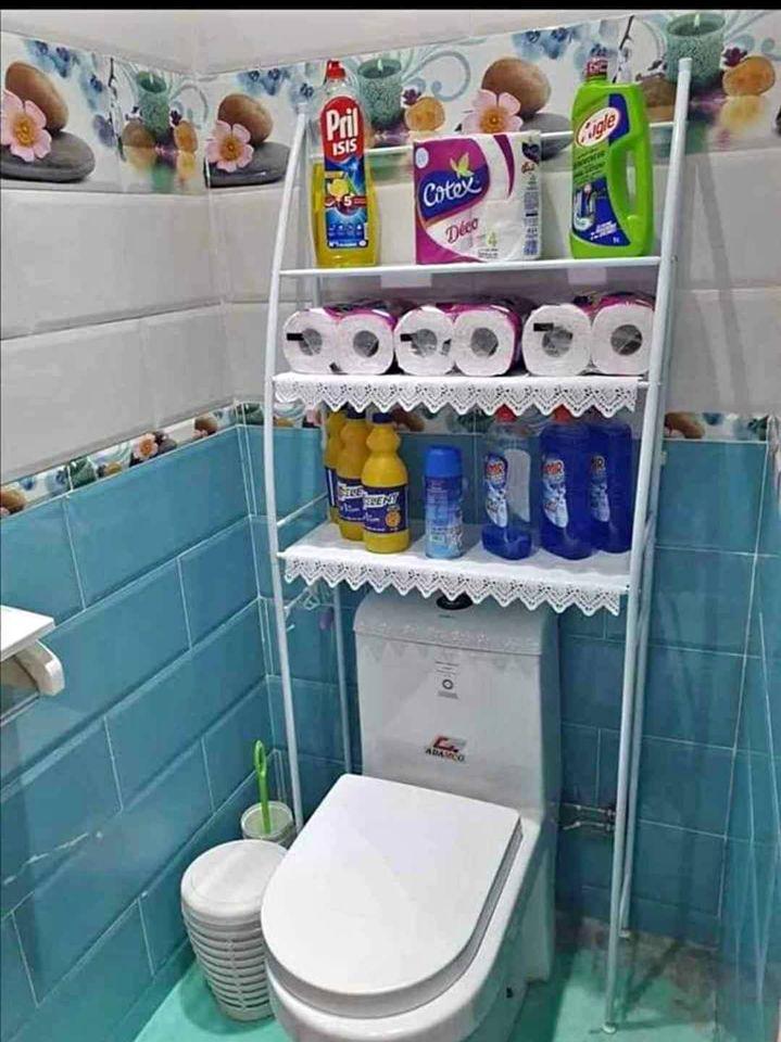 اجمل و افضل رف للمرحاض او غرفة الغسيل