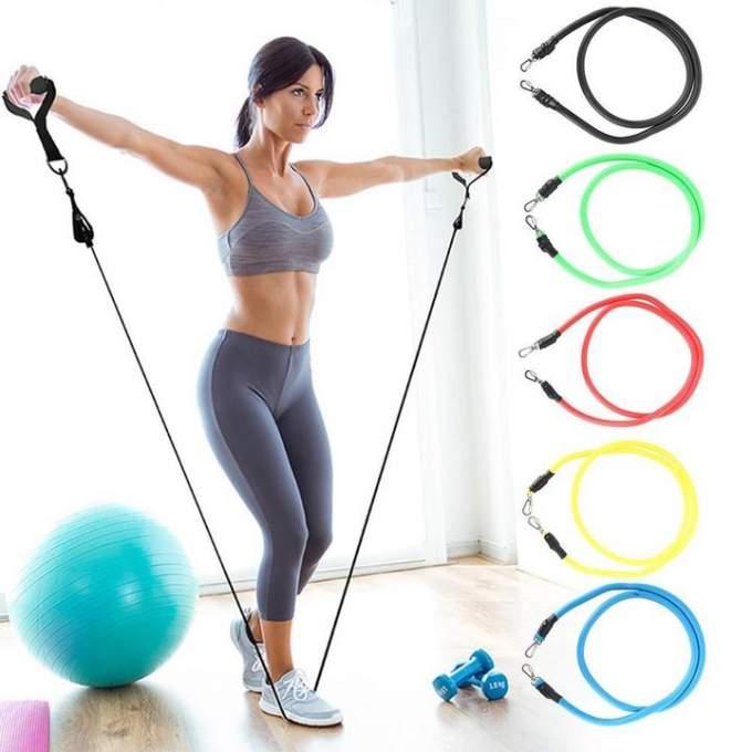 طقم الأحزمة  لممارسة التمارين الرياضية