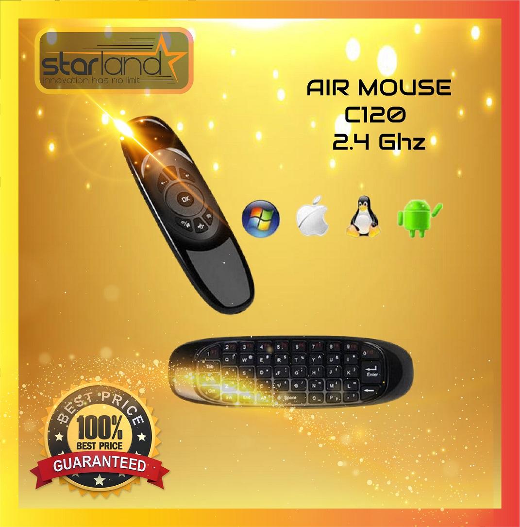 Télécommande C120 Air Mouse 2.4GHz Wireless Mini clavier pour Android,TV,Windows