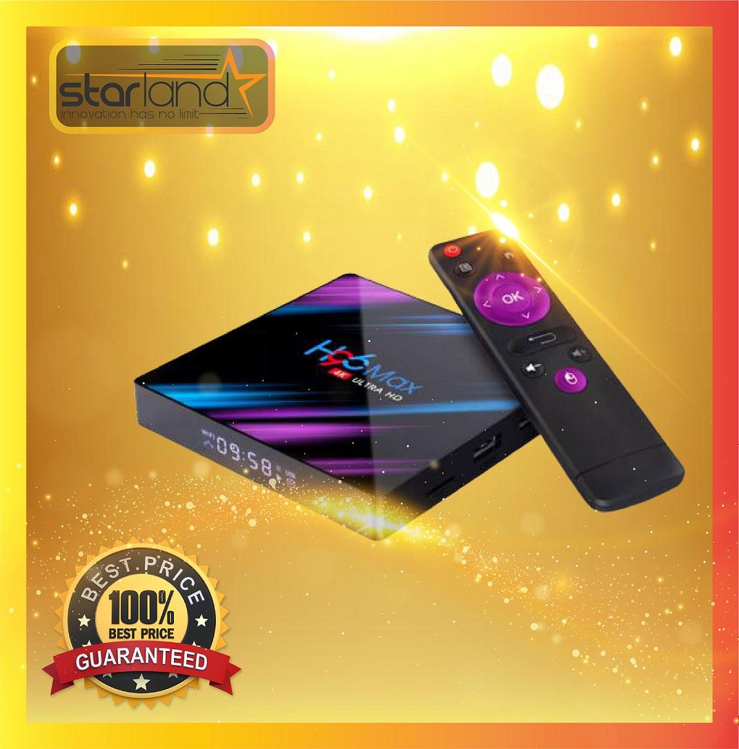 H96 Max TV Box Android 9.0 - Noir 4Go RAM+64Go ROM