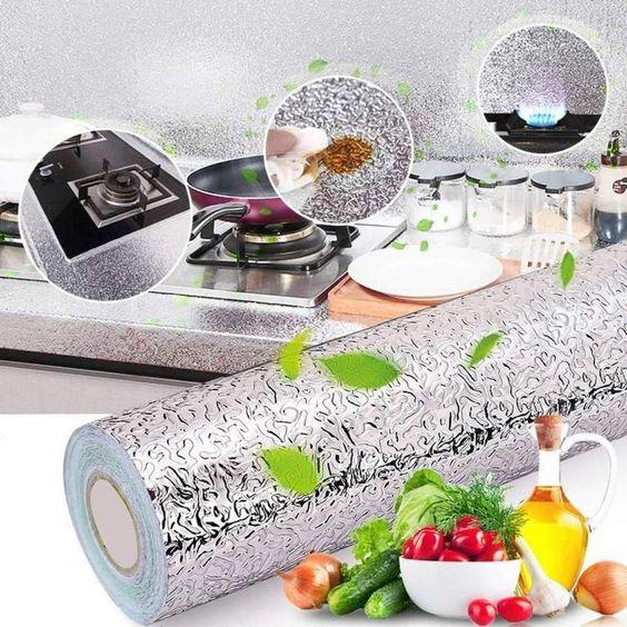 Aluminium adhésive pour la cuisine