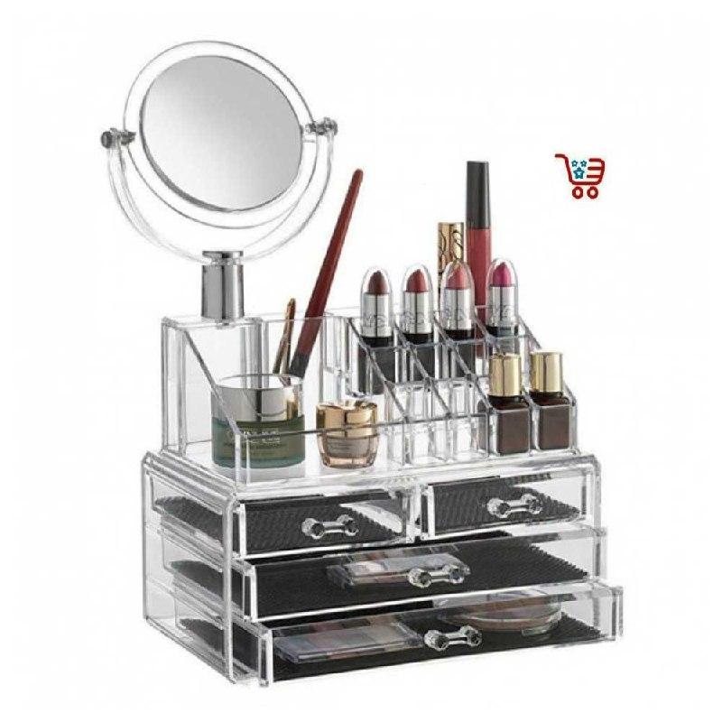 boite de rangement cosmetique transparente