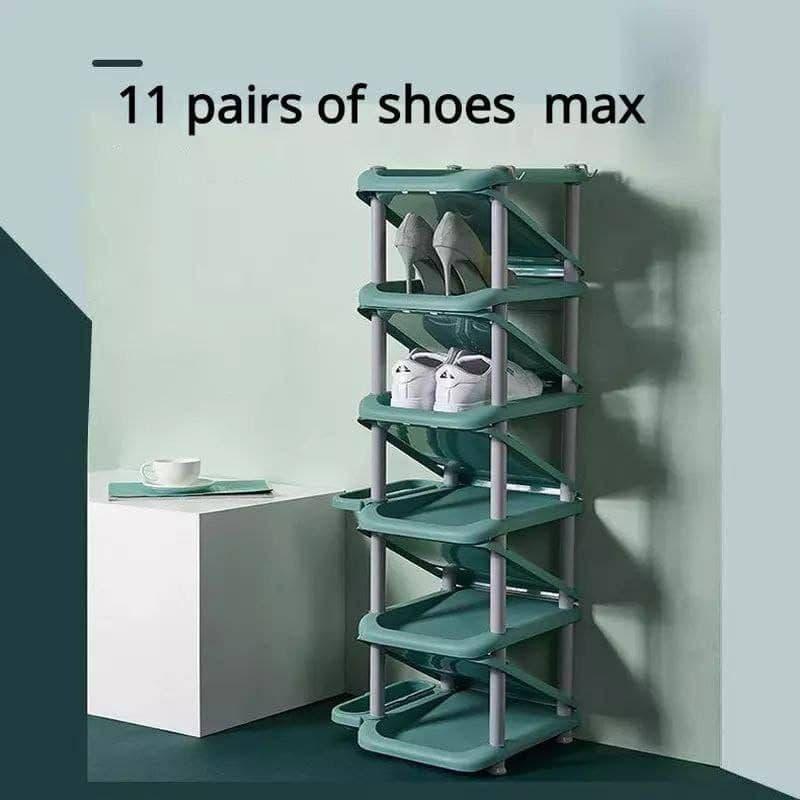 رفوف تخزين الأحذية  لحفظ الفضاء